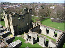 SK3616 : Ashby-de-la-Zouch: looking down on the castle by Chris Downer
