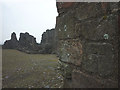 NY7914 : Bolt bench mark on the keep, Brough Castle by Karl and Ali
