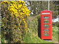 SW7149 : Roadside telephone box at Higher Goonvrea by Rod Allday