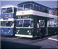 TQ2578 : Two Buses at Earls Court Exhibition Centre by David Hillas