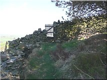 SE0120 : Gate on Ripponden Footpath 10 by Humphrey Bolton