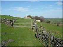 SE0120 : Gate on Ripponden Footpath 9 by Humphrey Bolton