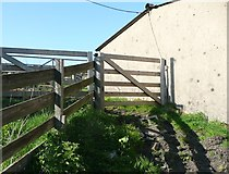 SE0120 : Gate on Ripponden Footpath 9 at Little Greave by Humphrey Bolton