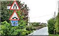 J1264 : Road signs, Aghalee by Albert Bridge