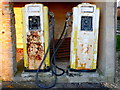 ST4613 : Old Petrol Pumps by Nigel Mykura