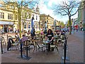 NY4055 : Pavement Cafe, Carlisle by Mike Smith