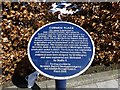 NY0028 : Circular plaque, Curwen Place, Workington by Kenneth  Allen