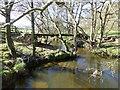 NU1417 : Bridge over Shipley Burn by Russel Wills