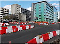 SU9779 : Roadworks at a Slough crossroads by Jaggery