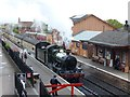ST1629 : Steam hauled train leaving Bishops Lydeard by Robin Drayton