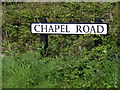 TM3887 : Chapel Road sign by Adrian Cable