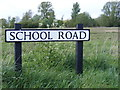 TM3786 : School Road sign by Adrian Cable