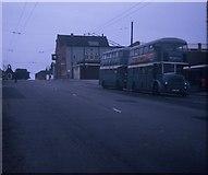 NZ5518 : Two Buses in High Street, Eston by David Hillas