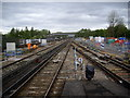 TQ2841 : View north from Platform 5/6, Gatwick Station by Stanley Howe