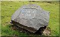 J3278 : Waymarked stone, Belfast Castle by Albert Bridge