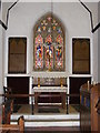 TM3687 : Altar & Stained Glass Window of St.John's Church by Adrian Cable