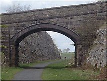 SK1462 : Bridge and railway cutting, Tissington Trail by Andrew Hill
