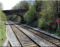 ST1599 : Do not alight here near Gilfach Fargoed railway station by Jaggery