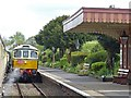 ST0243 : Diesel locomotive passing through Blue Anchor Station by Robin Drayton