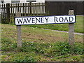 TM3489 : Waveney Road sign by Adrian Cable