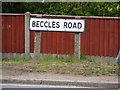 TM3489 : Beccles Road sign by Adrian Cable