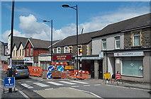 ST1599 : Cardiff Road regeneration work, Bargoed by Jaggery