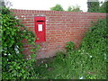 SU1213 : Alderholt: a Victorian postbox has been replaced by Chris Downer
