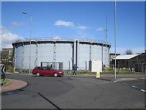 NO3700 : Gas holder? Leven by Richard Webb