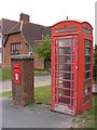 TM3989 : Telephone Box & The Old School Postbox by Adrian Cable