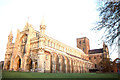 TL1407 : St Albans cathedral from the west by Christopher Hilton