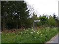 TM4089 : Barsham City sign on Church Road by Adrian Cable
