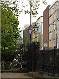 TQ3282 : Old Street from gardens of St Luke's Church by Andrew Wilson