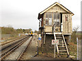 TR0447 : Wye signalbox (disused) by Stephen Craven