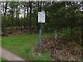SU8763 : Swinley Forest sign by Alan Hunt