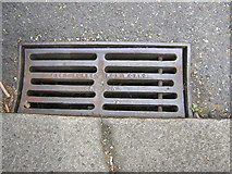 TQ3370 : East Surrey Iron Works drain grid, Fox Hill by Christopher Hilton