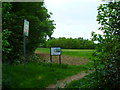 TQ0284 : Entrance and notice at Iver Heath Fields by Shazz