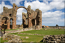 NU1241 : Lindisfarne Priory (2) by Mike Searle