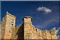 NU1109 : Edlingham Castle - detail (3) by Mike Searle