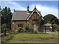 SE2711 : Lodge by Litherop Road, Bretton Country Park by Robin Stott