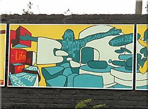 SJ8993 : Reddish South Mural (Panel 2 of 5) by Gerald England