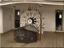 TQ7569 : Ship's Wheel, HMS Gannet by David Dixon