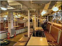 TQ7569 : HMS Cavalier (interior view) by David Dixon