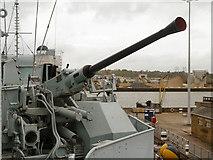 TQ7569 : HMS Cavalier, Forward Gun by David Dixon