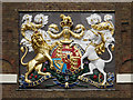 TQ7568 : George III Coat of Arms, Chatham Royal Dockyard by David Dixon