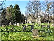 NY9449 : St. James's Church, Hunstanworth - churchyard by Mike Quinn