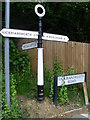 TQ0396 : The Signpost at Chorleywood (2) by David Hillas