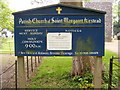 TM2998 : St.Margaret's Church Notice Board by Adrian Cable