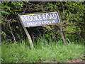 TM2998 : Brooke Road sign by Adrian Cable