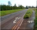 ST6378 : Cycle lane markings, Hambrook by Jaggery