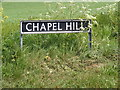 TM2993 : Chapel Hill sign by Adrian Cable